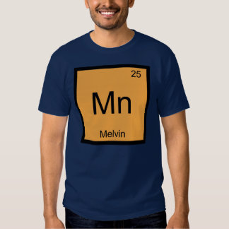 Melvin Name Chemistry Element Periodic Table T-Shirt