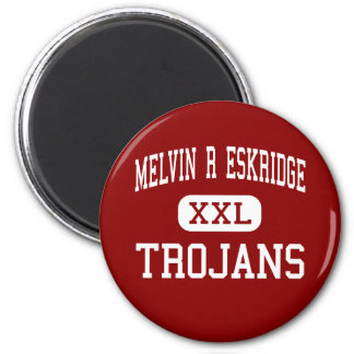 Melvin R Eskridge - Trojans - High - Saint Louis 2 Inch Round Magnet