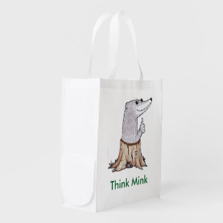 Melvin T. Mink reusable shopping bag Market Tote