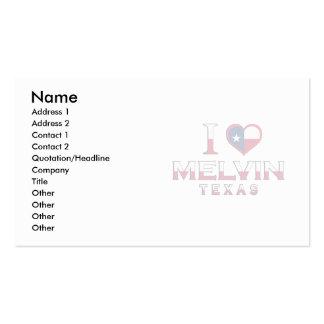 Melvin, Texas Business Card Template
