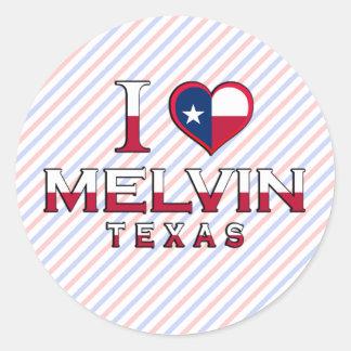 Melvin, Texas Round Stickers