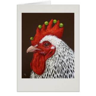 Melvin the rooster card