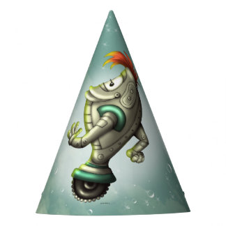 MELZ CUTE ALIEN ROBOT CARTOON PARTY HAT