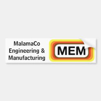 MEM Bumper Sticker. Car Bumper Sticker