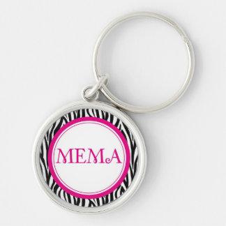 MeMa Keychain - Zebra Style