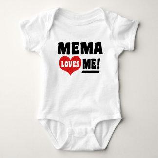 Mema Loves Me Baby Bodysuit