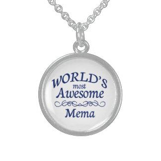 Mema más impresionante del mundo collar de plata esterlina