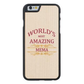 Mema que sorprende funda de iPhone 6 carved® de arce