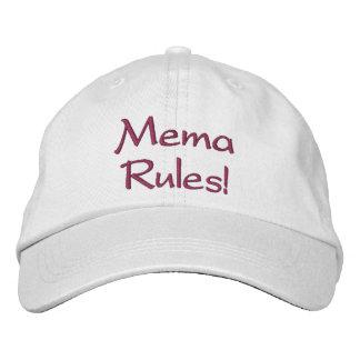 """""""Mema Rules!"""" Adjustable Hat"""