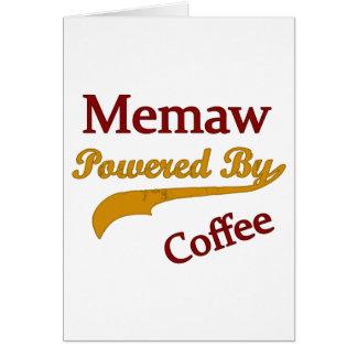 Memaw accionó por el café tarjeta de felicitación