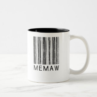 Memaw Barcode Two-Tone Coffee Mug