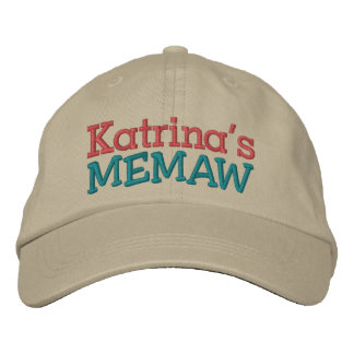 Memaw ... ; ) embroidered baseball hat