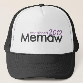 Memaw Established 2012 Trucker Hat