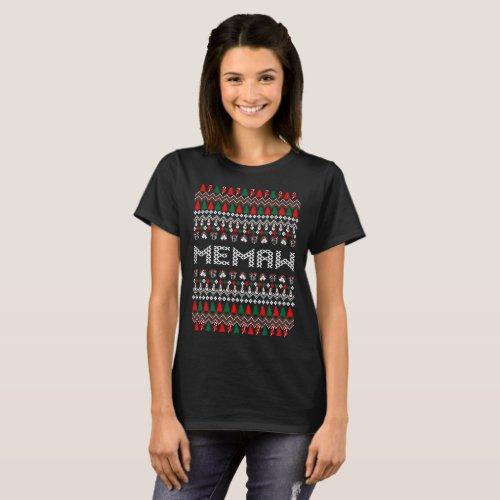 Memaw Grandma Ugly Christmas Sweater Tshirt After Christmas Sales 5528
