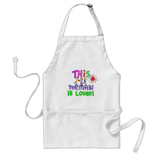 Memaw Grandmother Gifts Adult Apron