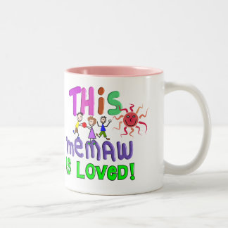 Memaw Grandmother Gifts Two-Tone Mug