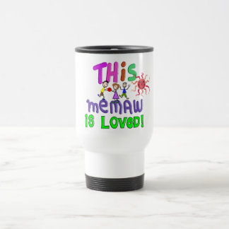 Memaw Grandmother Gifts Stainless Steel Travel Mug