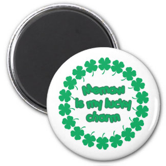 Memaw is My Lucky Charm 2 Inch Round Magnet