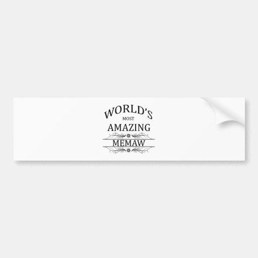 Memaw más asombroso del mundo pegatina de parachoque