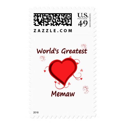 Memaw más grande del mundo sellos