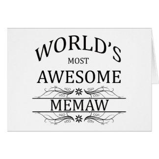 Memaw más impresionante del mundo tarjeta de felicitación