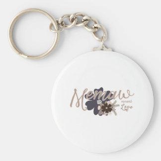 Memaw Means Love Basic Round Button Keychain