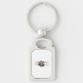 Memaw Means Love Silver-Colored Rectangular Metal Keychain