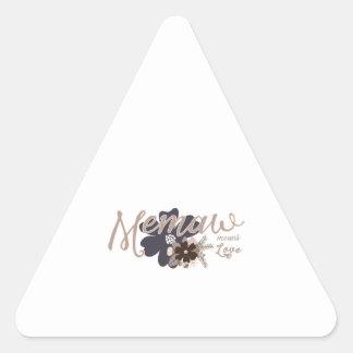 Memaw Means Love Triangle Sticker