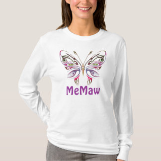 MeMaw Personalized Butterfly T-Shirt