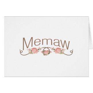 Memaw Pink Poppies Card