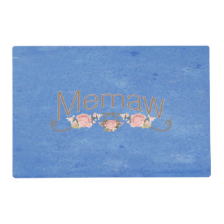 Memaw Pink Poppies Placemat