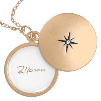 Memaw Pink Posey Locket Necklace