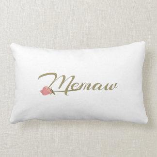 Memaw Pink Posey Lumbar Pillow