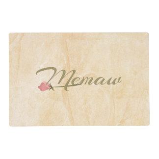 Memaw Pink Posey Placemat