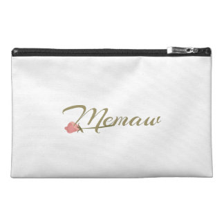 Memaw Pink Posey Travel Accessory Bag