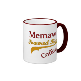 Memaw Powered By Coffee Coffee Mugs