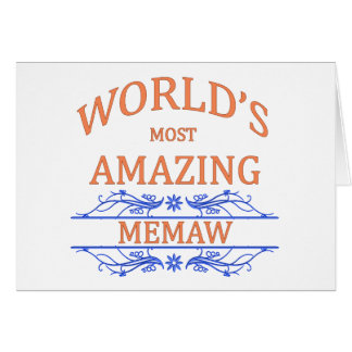 Memaw que sorprende tarjeta de felicitación