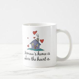 Memaw s Home is Where the Heart is Coffee Mug