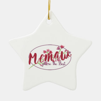 Memaw You're The Best Floral1 Ceramic Ornament
