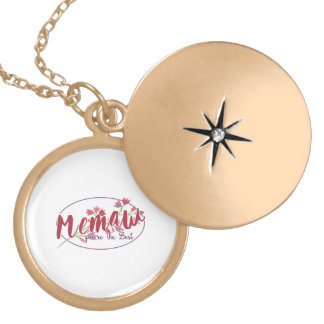 Memaw You're The Best Floral1 Locket Necklace