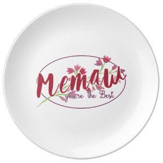 Memaw You're The Best Floral1 Plate