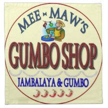 Memaw's Gumbo Shop Printed Napkins