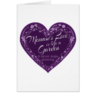 Memaws Love Garden Purple Card