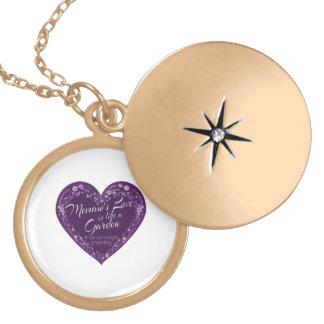 Memaws Love Garden Purple Gold Plated Necklace