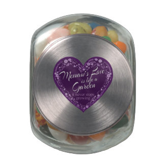Memaws Love Garden Purple Jelly Belly Candy Jars