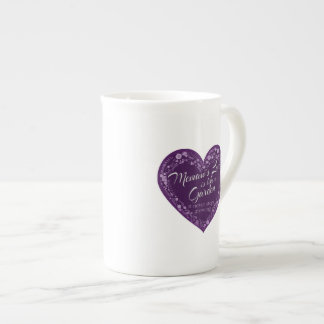 Memaws Love Garden Purple Tea Cup