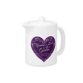 Memaws Love Garden Purple Teapot