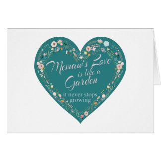 Memaws Love Garden Teal Card