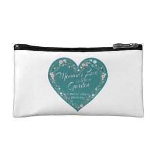 Memaws Love Garden Teal Cosmetic Bag