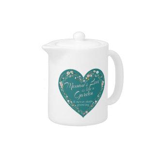Memaws Love Garden Teal Teapot